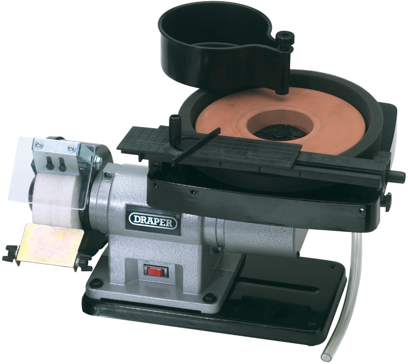 Excellent Draper 31235 Wet And Dry Bench Grinder 350W Caraccident5 Cool Chair Designs And Ideas Caraccident5Info